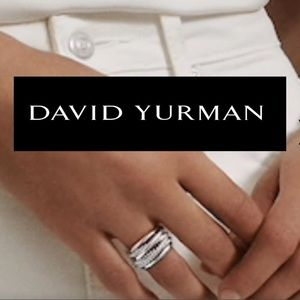 Modern David Yurman crossover ring sz 6